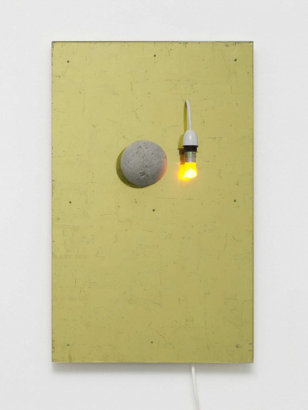 Carl Freedman Gallery 3 Switch Light Fitting 2010 Gold Leaf Concrete Acrylic Sheet Plyboard 69 43 10 Cm